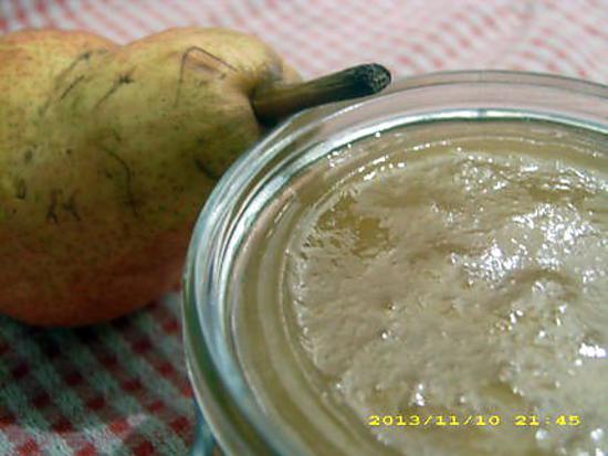 recette confiture de poires