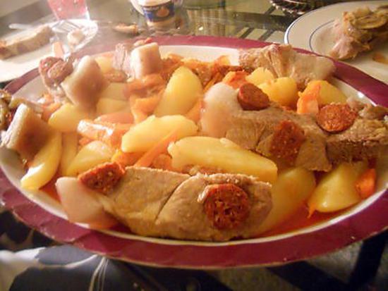 recette de rouelle de porc et ses légumes