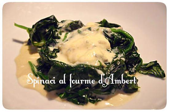 recette Epinards gourmands