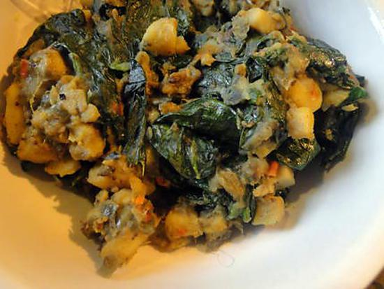 Recette De Sag Aloo Pommes De Terre Et épinards à Lindienne - Cuisiner des epinards frais