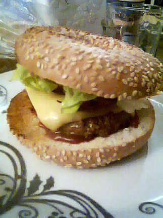 recette Burger Bagel Bacon
