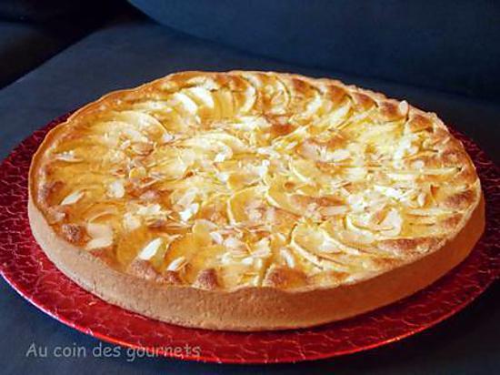 recette Tarte aux pommes/crème d'amande au calva