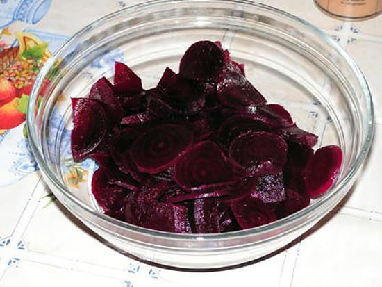 recette de betteraves rouges en salade. Black Bedroom Furniture Sets. Home Design Ideas