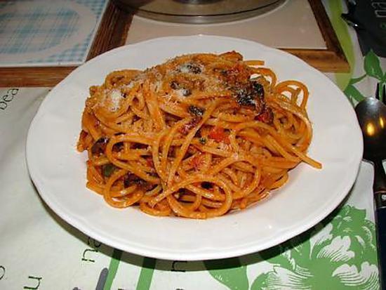 recette Maccheroni ou spaghetti alla chitarra à la sauce tomate à l'ageau