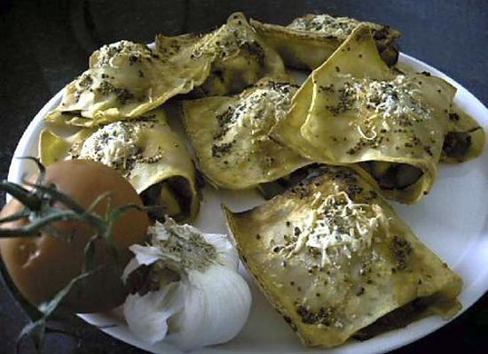 recette Bourses de lasagne au petit goût d'Italie