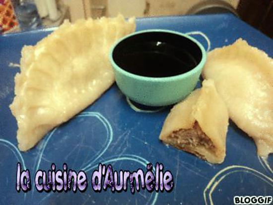 recette Gyozas boeuf  ( raviolis japonais )