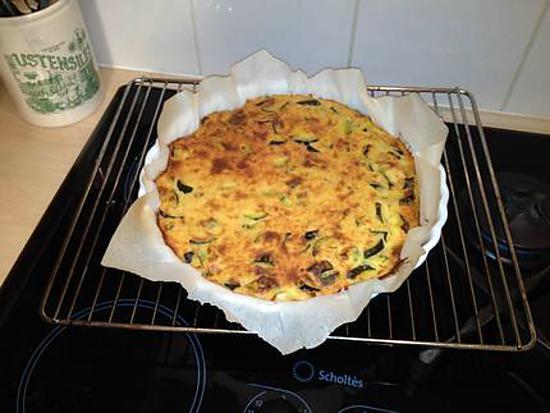 recette de tarte aux courgettes sans pate