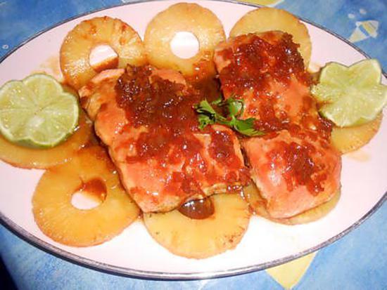 Recette de pav de saumon a l ananas - Comment cuisiner pave de saumon ...