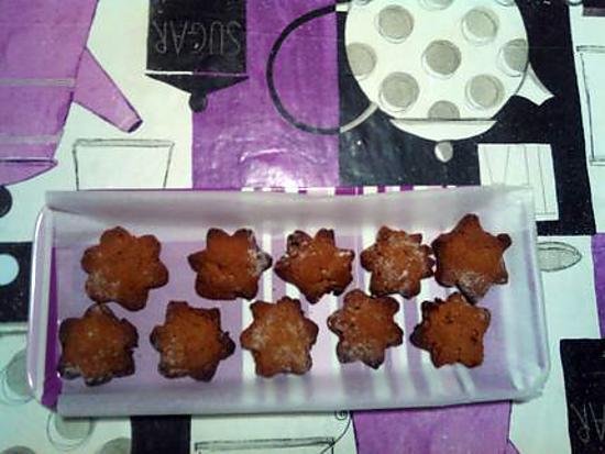 recette flocon chocolat garniture orange