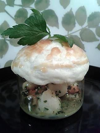 recette noix de saint jacques sauce au beurre d'escargots en croute feuilleté (nouvel an)