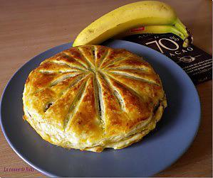 recette Galette des rois banane, coco, pépites de chocolat