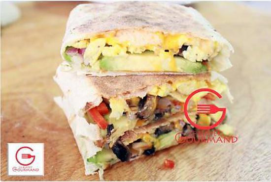 recette Sandwich Oeufs, Avocat, Fromage