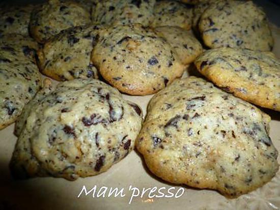 recette Cookies noix et chocolat noir