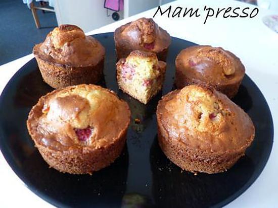 recette Muffins framboises et amandes