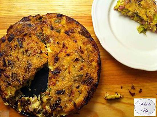 recette Clafoutis Poireaux et Lardons Fumés