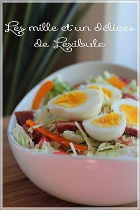 recette ~Salade de jambon à la vinaigrette ranch~