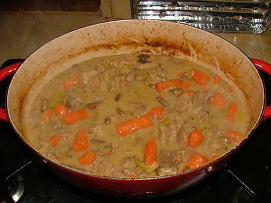 recette Blanquette de veau aux légumes