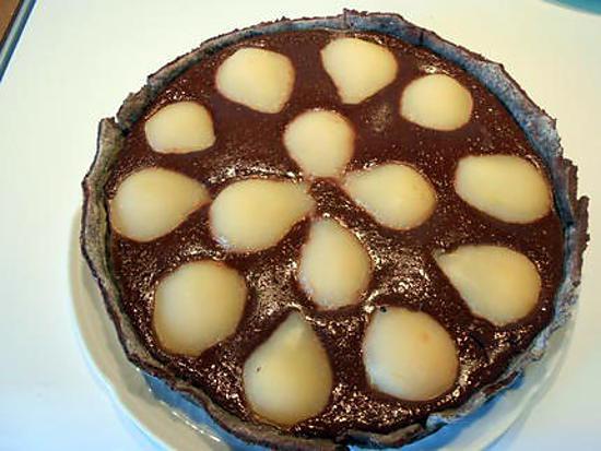 """recette Tarte """"light"""",cacao et poires."""