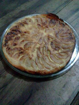 recette tarte aux pomme et crème fraiche