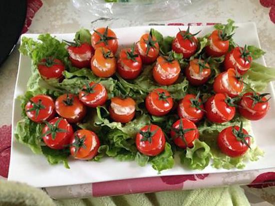 recette Tomates cerises farcies