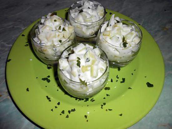 recette Concombre a la Menthe