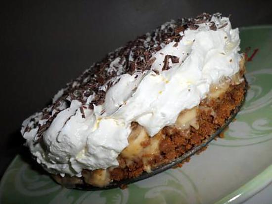 recette Banoffee pie ou tarte banane caramel chantilly