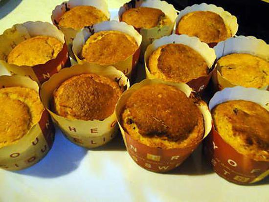 recette Muffins aux raisins secs et à l'orange