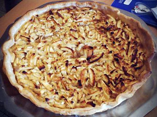 recette Tarte aux pommes et citron avec chapelure spéculoos