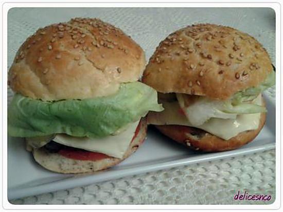Recette de hamburger maison par delicesnco - Recette hamburger maison original ...