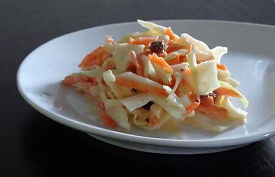 recette Coleslaw - Salade d'hiver chou, carotte...
