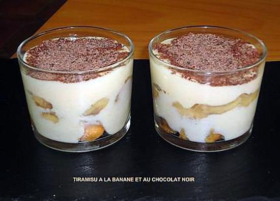 Recette de tiramisu a la banane et au chocolat noir - Recette tiramisu au chocolat ...