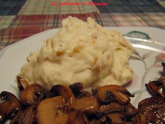 Recette de pur e de pomme de terre l 39 oignon - Puree pomme de terre maison ...