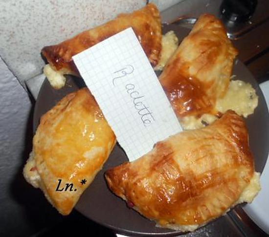 recette Chaussons raclette (petite invention)
