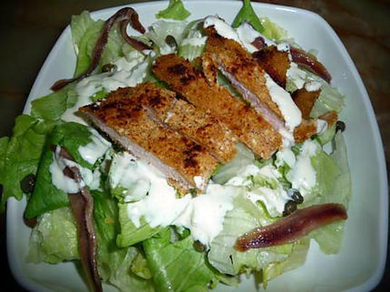 recette Salade César et sa si bonne sauce