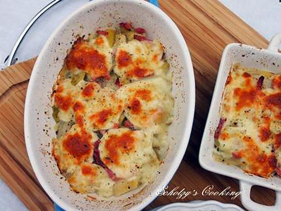 recette Gratin de poireaux à la mozzarella