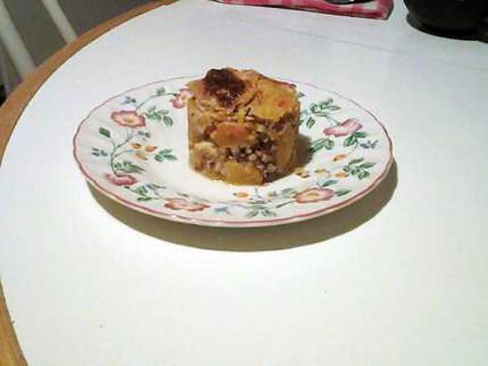 recette gratin courge butternut et sarrasin grillé