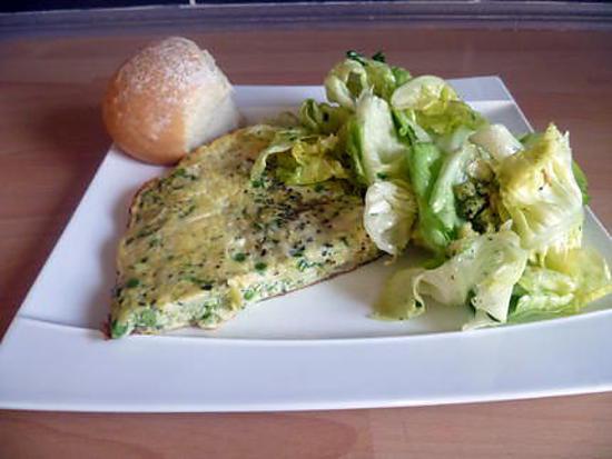 recette Frittata aux courgettes et aux petits pois