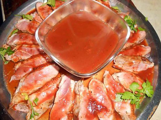 recette Magret de canard demi-glace au madére