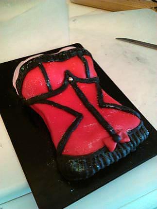 recette gâteau sexy bustier Victoria