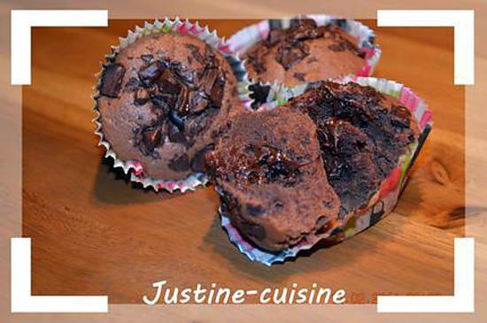 recette Muffins au chocolat coeur corsé