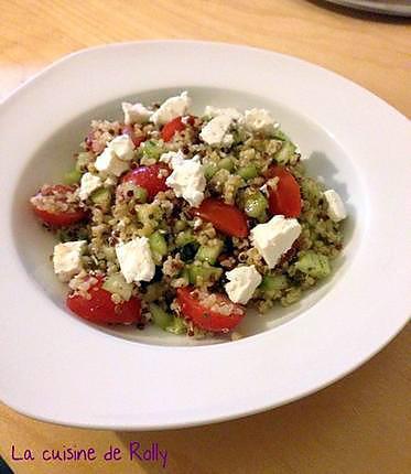 recette Salade de boulghour quinoa, féta, tomate