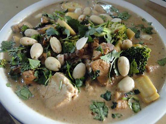 recette Curry de poulet et tofu