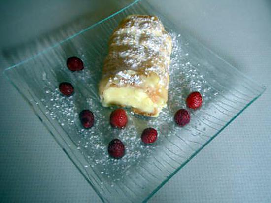 recette Roulé feuilleté à la crème patissière