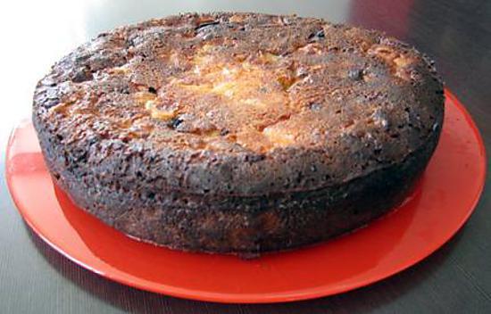 recette Délice pain, poires et chocolat