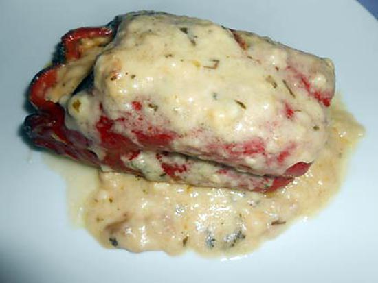 Poivron farci viande et fromage taleggio 430