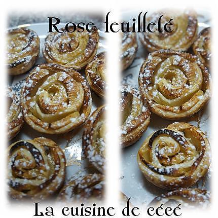 recette Rose feuilleté