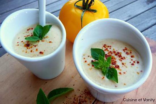 recette Gaspacho de tomates jaunes