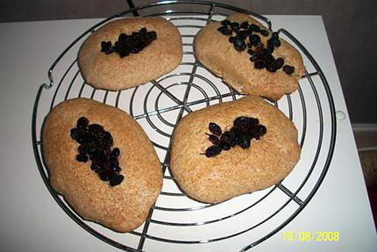recette pain navet complet aux raisins sec