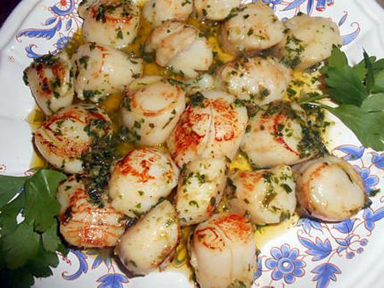 recette St jacques au beurre d escargots