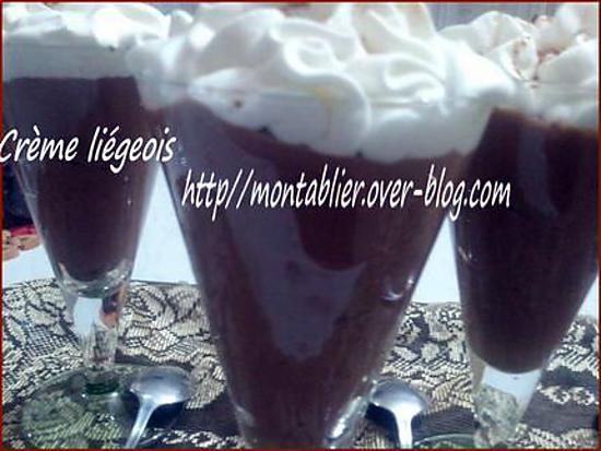 recette Crème liégeois: